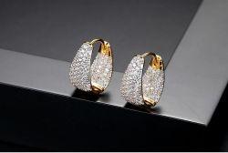 925 Prata Brinco diamante com jóias de ouro de preço no atacado