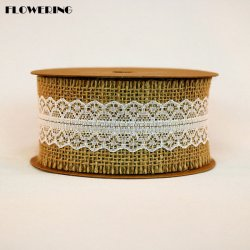 Los encajes de yute para silla de escritorio de la Copa de la decoración de mesa
