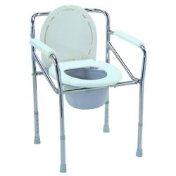 Un service professionnel siège de toilette en plastique avec couvercle et godet