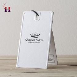 Personnaliser le luxe Étiquette papier carton blanc avec Matt pour vêtements Accessoires de surface