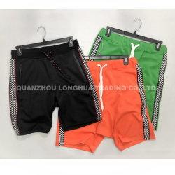 Shorts lavorati a maglia doppio dell'interruttore di sicurezza del ragazzo degli uomini
