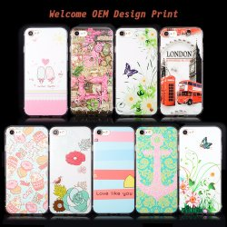 تصميم الشركة المصنعة للمعدات الأصلية الطباعة البلاستيك الصلب الناعم TPE Slim Protection Cell حافظة الهاتف لجهاز iPhone/Samsung