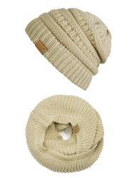 Акрил зимний теплый Beanie трикотажные оптовой Red Hat и шарфом устанавливает