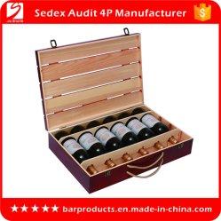 Commerce de gros de la promotion du vin en bois boîte cadeau pour le vin de l'emballage