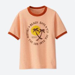 새로운 디자인에 의하여 인쇄되는 짧은 소매 아이들 t-셔츠