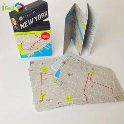 Boîte en carton de papier de haute qualité de l'emballage de la carte de promenades de la ville