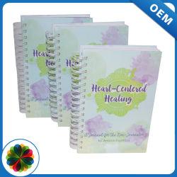 주문 철사 바인딩 디자인 싼 색깔 전표 책 인쇄