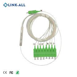 Пассивный 900um Input/Output 1X8 Sc APC модуль делителя с программируемым логическим контроллером