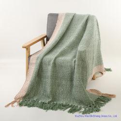 Fabrik Preis Heiße Verkaufende 100% Acryl Kontrast Farbe Weich Gewobene Decke