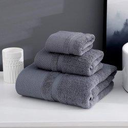 Ultra weiche Bad-Tuch-eingestellte - 100% enthält reine Baumwolltücher, die 1 Bad-Tücher, 1 Handtücher, 1 Wäsche-Tücher - in hohem Grade saugfähige Tücher für Badezimmer, Dusche-Tuch