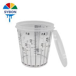 Wholesale Auto de alta calidad de la copa de mezcla de pintura plástica 700ml pintura contenedor para automoción acabar