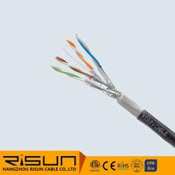 كبل Risun LAN CAT6A غلاف مزدوج لكبل U/FTP خارجي (PVC+PE)