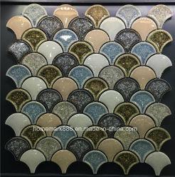 8mm de espesor de hielo de buena calidad Crack mosaico de cerámica con vidrio en la superficie
