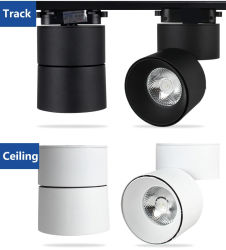 20W ESPIGA magnética do distribuidor local circular LED Holofote de Teto baixo Via Light