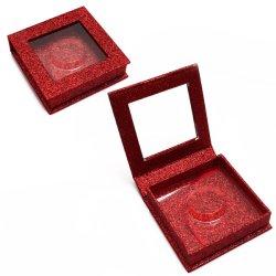 China Luxury o logotipo personalizado quadrado impresso em papel especial Eyelash Cosméticos Embalagem embalagem caixas com janela de PVC e da Bandeja Fabricante Fábrica do Fornecedor