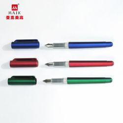 Luxo personalizados de alta qualidade China Executive caligrafia clássica caneta de metal preta OEM promocionais Fountain Pen Set