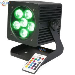 4X18W 옥외 방수 배터리 전원을 사용하는 LED 단계 동위 빛 레이저 광