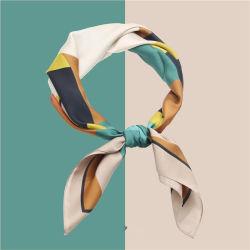 カスタムデザインレディヘッドスカーフのレディリトルシルクトウィリー 100% シルクスカーフ
