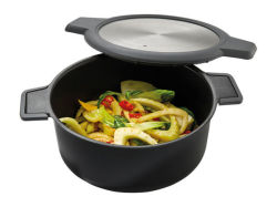 1.5L Nonstick couché avec couvercle Microgrill micro-ondes grill