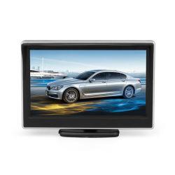 Écran LCD TFT 5 pouces moniteur voiture HD800*480 voiture Parking de recul avec 2 entrée vidéo du moniteur