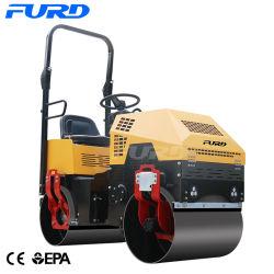 Rullo compressore vibratorio del mini dell'asfalto da 1 tonnellata di vibrazione costipatore idraulico del terreno