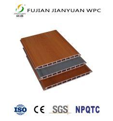 ASA-PVCの共押出し屋外の木製のプラスチック合成物WPCの壁カバーは壁パネルのクラッディングに乗る