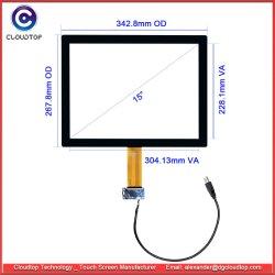 USB емкостного сенсорного экрана 15 дюйма с поддержкой мультисенсорного ввода