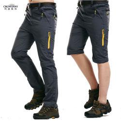 Высокое качество мужчин плюс размер съемной водонепроницаемый повседневные брюки груза Быстрый сухой поход брюки для установки вне помещений