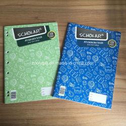 Estudioso de um livro de exercícios4 A4 Binder com margem de notebook