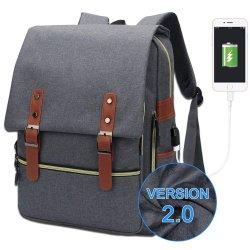 Nouveau design College Notebook PC Portable sac à dos 15,6 avec Chargeur USB