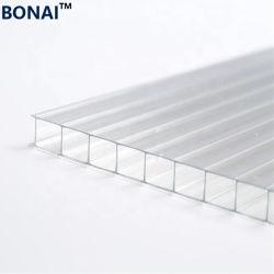 Haute qualité 4mm de 6mm 8mm 10mm 2 Feuille de mur creux en polycarbonate transparent