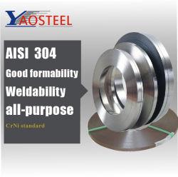 منفذ المصنع 304، جودة عالية 1.4310، شريط الفولاذ المقاوم للصدأ الصلب مستنسخ سعر شريط، أرضية من الصلب الذي لا يصدأ شريط التحول