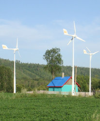 Sistema di generatore automatico controllato della turbina del vento del freno del passo