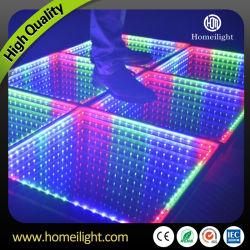 3D LED de vidrio de pista de baile para la etapa parte Mostrar eventos de boda