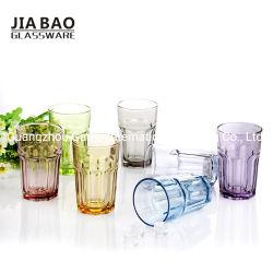 工場価格設計スプレーの色ガラス水コップ