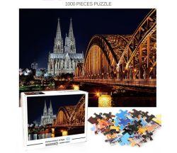 Custom Wholesale High Quality Frames 3D Puzzle Jigsaw 1000PCS Toys