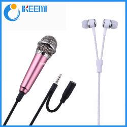 De mini Stem die van de Karaoke van de Microfoon van de Condensator de Mobiele Computer van de Telefoon registreren zingt MiniatuurMic Microfoon