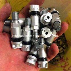 Tubeless interior TPMS el vástago de válvula válvula del neumático TPMS de aluminio plateado.