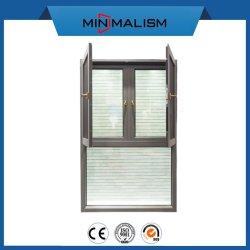 Matériau de construction de la fenêtre à battant en aluminium avec verre dépoli pour la maison