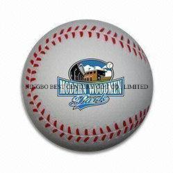 도매 장난감 PU 거품 짜기 Antistress 공 야구 디자인 부속품 with 법인 로고