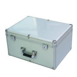 ブラシをかけられた金属のパネル(keli-YQ-002)が付いている銀製アルミニウムボックス