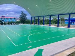 Piso vinílico de PVC al aire libre para el bádminton o el baloncesto o balonmano/Club de Tenis Cancha de Deportes Juegos