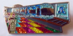 Esmalte programável personalizados com cintilante Pin de lapela
