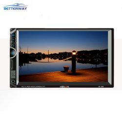 2 DIN Car Multimedia player de áudio estéreo de 7 polegadas de ecrã táctil HD MP5 Player suporta Bluetooth Câmara FM USB SD Aux