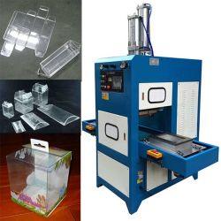 Haute fréquence de ligne de pli doux Machine à souder pour la fabrication de boîtes d'oreillers, claire claire de l'emballage, de plastique transparent cas carré boîte de machine d'étanchéité en PVC RF