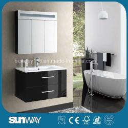 Modern Hotel impermeável montada na parede de PVC ou de casa de banho de MDF armário com espelho