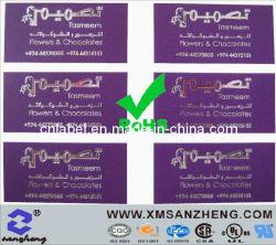 Hot Silver timbre brillant en aluminium résistant aux températures élevées des étiquettes certifié UL