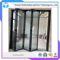 Partição de 8 mm da porta interior de vidro temperado único Alumium porta rebatível