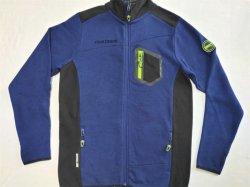 Strickmode Soft Shell Jacken in bequemen und glatten Material Für Herren Pulljacke mit Reißverschluss und Kontrastblende