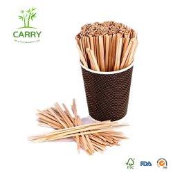 Bambu biodegradáveis/chá de madeira agitador de café e cocktails dispensador de bastões